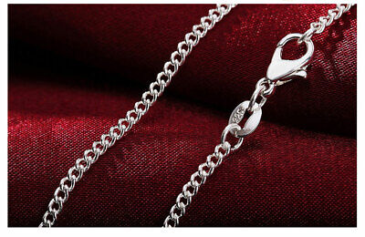 Genuine 925 Sterling Silver 16/18/20  Chain Necklace Christmas Jewellery Gift UK • 2.89£