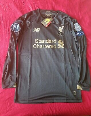 Liverpool 2019/20 Goalkeeper Black Long Sleeve Jersey Champions League • 49.99$