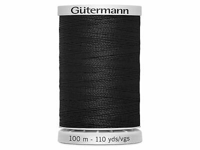 £4.24 • Buy Gutermann Extra Strong Polyester Thread 100m Hand And Machine  - 000 Black