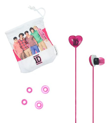 One Direction Universal In-Ear Headphones - Pink • 4.48£