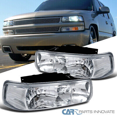 $58.47 • Buy Fit 99-02 Chevy Silverado Suburban Tahoe Clear Headlights Head Lamps Left+Right