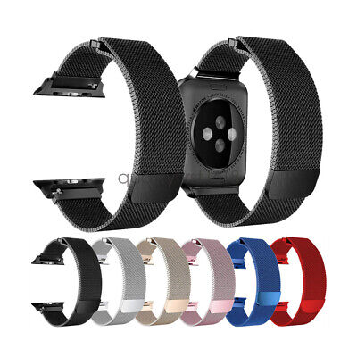AU2.99 • Buy Stainless Steel Milanese Loop Watch Band Strap For Apple Watch 5 4 3 44/42 40/38