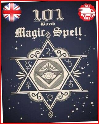101 Magic Spell Book: Of Shadows / Grimoire Witchcraft Witch Spells Journal • 6.24£