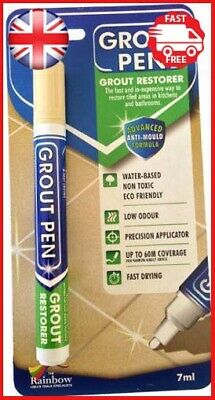 Grout Pen - Designed For Restoring Tile Grout In Bathrooms & Kitchens Cream • 5.07£