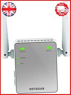 NETGEAR Mini N300 Mbps Wi-Fi Range Extender With External Antennas Wi-Fi Booster • 21.54£