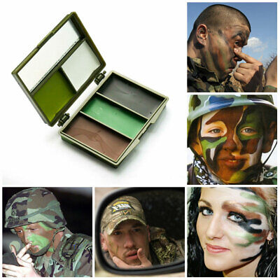 Camouflage GI/Army/Military 5 Colour Face Paint Set With Mirror & Case Dress Up • 2.99£