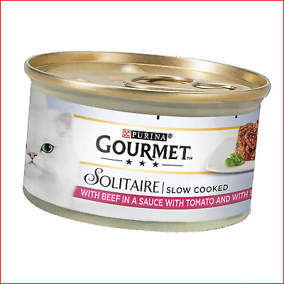 Gourmet Solitaire Beef With Tomato Sauce And Spinach, 85g - Pack Of 12 • 9.43£