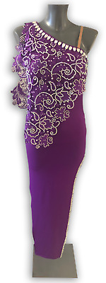 £650 • Buy New Competition Latin Dance Dress Made From Chrisanne Clover Fabrics