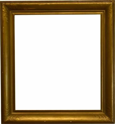 American 1920 Arts And Crafts Scoop Picture Frame With Corner Leaf Motif (27x29) • 545.65£