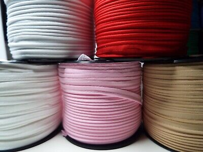 1m - 10mm Cotton Bias Binding Tape Cord Flanged Rope Piping - 16 Colours • 1.99£