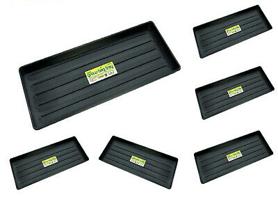£9.90 • Buy New Plastic Grow Bag Growbag Tray Garden Plant Watering Trays Pack Of 1/2/4/5/10