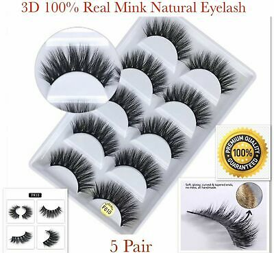 5 Pair 3D Mink False Eyelashes Wispy Cross Long Thick Soft Fake Eye Lashes  • 3.99£