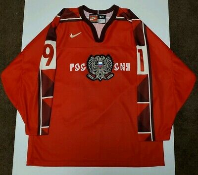 $99.95 • Buy Nike 1998 Sergei Fedorov Team Russia Olympic Hockey Jersey Size 48 Red Ussr Cccp