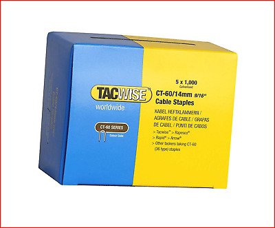 £18.91 • Buy Tacwise CT-60/14mm Cable Tacker Staples Box 5000