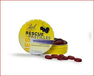 £6.05 • Buy Bach RESCUE Remedy Pastilles, Blackcurrant 50g – Soothing Flower Essences