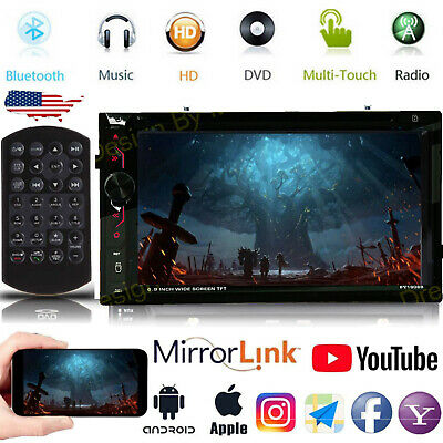 $139.98 • Buy Car Stereo Mirrorlink GPS Bluetooth Radio Double 2 Din 6.2  CD DVD Player AM FM