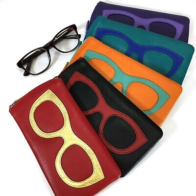 Leather Glasses Case By Ili New York - Leather Spectacle Case - Style: 6462 • 20£