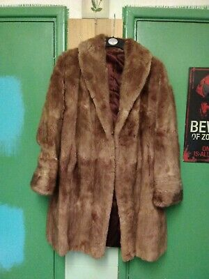 Vintage  Fur Coat By Cooks Of Wolverhampton. Size M. In Excellent Condition. • 48£