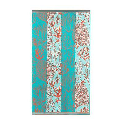 $ CDN35.93 • Buy Renee Taylor 100% Cotton Jacquard Velour Extra Large Beach Towel- Coral Reef