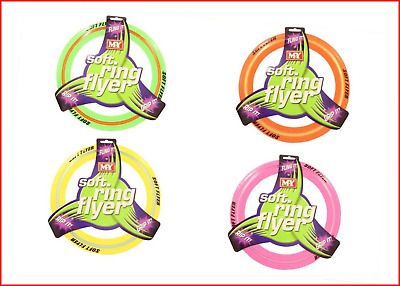 £6.14 • Buy Coloured Flying Frisbee Soft Ring Flyer Dog Puppy Play New Pet Outdoor Disc Toys