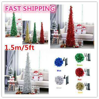 $19.62 • Buy Tinsel Christmas Xmas Tree Collapsible Stand Pull Up Indoor Outdoor Party Decor