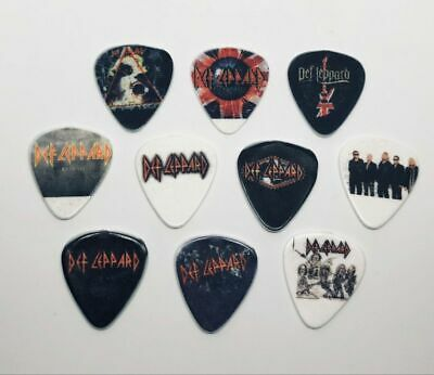 $ CDN12.53 • Buy Def Leppard Guitar Picks Set (10 Picks/10 Diferent Designs) New Sealed