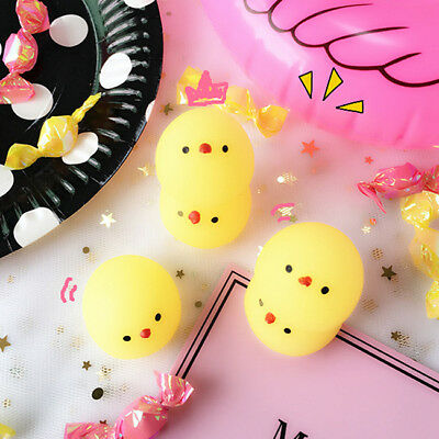 AU8.16 • Buy Squishies Yellow Chicken 3Pcs Squeeze Stretchy Decompress Phone Kids Child Toy B