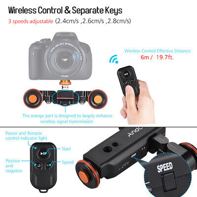 Pro 3-Wheels Wireless Video Camera Auto Dolly 3 Speed Gears Track - With Remote • 82.62£