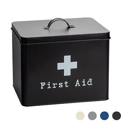 £14.99 • Buy First Aid Box Empty Emergency Medical Survival Kit Storage Case 2 Tier Black