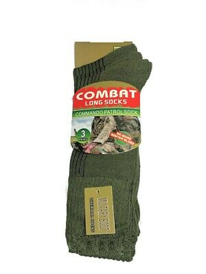 3 Pairs Of Men's Army Boot Socks, Thermal Long Military Socks, Size 6-11 • 8.99£
