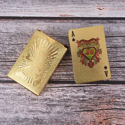Waterproof Gold Plated Porker PVC Playing Cards Dragon Pattern For Table Game TD • 6.65£