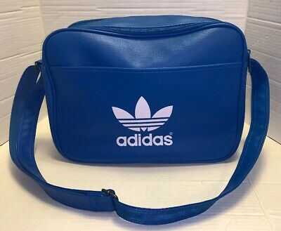 $49.99 • Buy Adidas AIRLINE Trefoil Unisex Shoulder Bag Messenger Flight BLUE Laptop Handbag