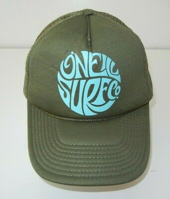 $14.39 • Buy O'NEILL SURF CO Olive Green/Blue TRUCKER HAT Surfing Beach Hawaii Snapback Cap