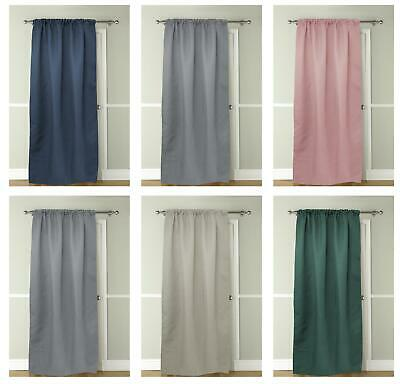 Thermal Door Curtain Panel Energy Saving Curtains Blackout Insulated 117x 213 Cm • 13.95£