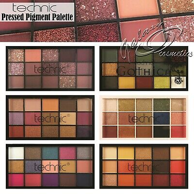 £5.65 • Buy Technic Pressed Pigment Eyeshadow Palette Mix Of 15 Matte & Shimmer Colours