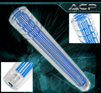 $29.99 • Buy For Nissan 12  M8X1.25 Clear 3D Style Long Extended Dildo Shift Knob Height Blue