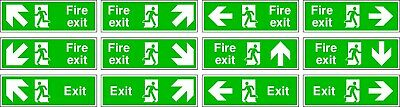 NO 1 Emergency Escape/Fire Exit Self Adhesive Vinyl Sticker All Sizes  • 0.99£