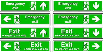 NO 2 Emergency Escape/Fire Exit Self Adhesive Vinyl Sticker All Sizes • 1.20£