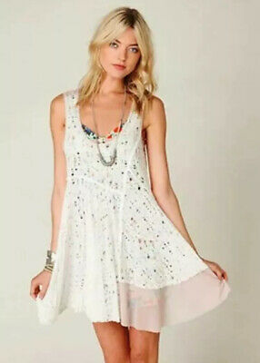 $ CDN132.55 • Buy Free People Luscious Lagoon White Lace Slip Dress S ASO Violet Harmon AHS Rare