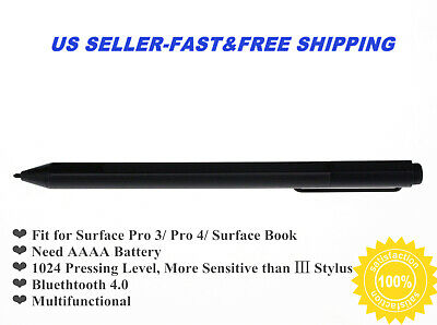 Black Stylus Pen For Surface Pro 3 Pro 4 Surface Book-Wireless Bluetooth • 38.99$