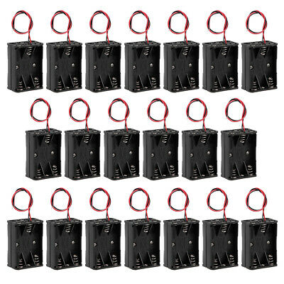 AU22.95 • Buy 9V Battery Holder Case Storage Box 6 X 1.5V AAA Batteries Wire Leads 20 Pcs