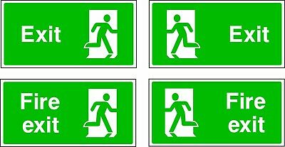 NO 3 Emergency Escape/Fire Exit Self Adhesive Vinyl Sticker All Sizes  • 1.30£