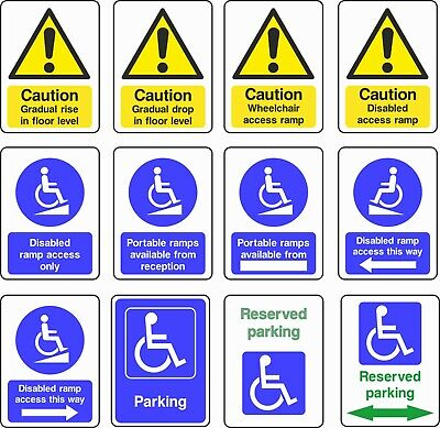 £0.99 • Buy NO 1 Disabled/Disability Self Adhesive Sticker/Sign All Sizes
