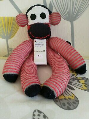 £10 • Buy Handmade Sock Monkey CE Marked Unique One Of A Kind, New Baby Gift, Mascot - New