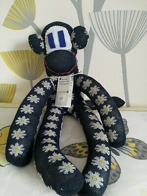 Handmade Sock Monkey Lovely Unique Gift One Of A Kind New  • 12£
