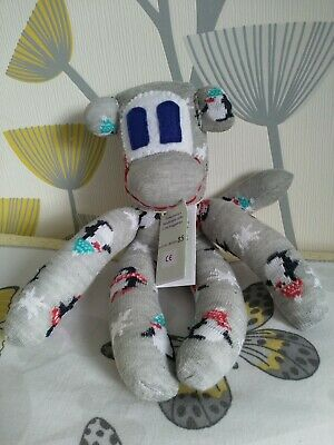 £11.50 • Buy Handmade Christmas Sock Monkey CE Marked New Unique Special Gift, Baby Gift,