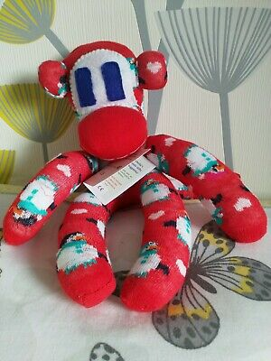 £11.50 • Buy Handmade Christmas Sock Monkey CE Marked New Unique Special Gift One Of A Kind