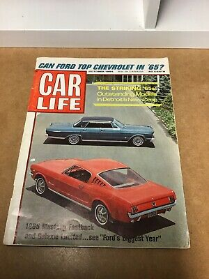 Car Life Magazine October 1964 Issue Introduction Of 1965 Models • 4.99$