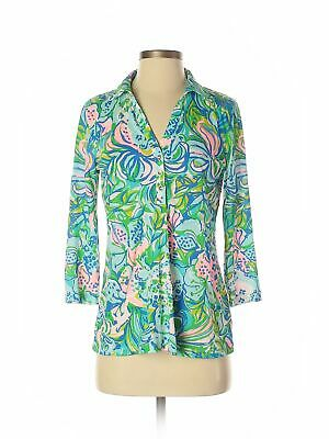 Lilly Pulitzer Women Green 3/4 Sleeve Blouse S • 36.99$