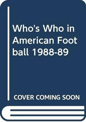 Who's Who In American Football 1988-89 Paperback Book The Cheap Fast Free Post • 6.49£
